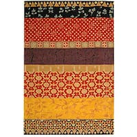 Safavieh Handmade Rodeo Drive Bohemian Collage Rust/ Gold Wool Rug (8' x 11') - 8' x 11'