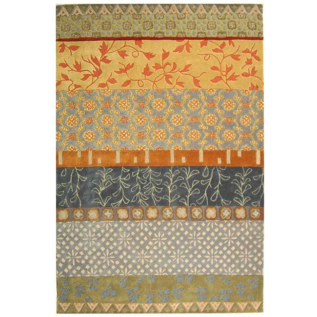 Safavieh Handmade Rodeo Drive Bohemian Collage Multicolored Wool Rug (6' x 9')