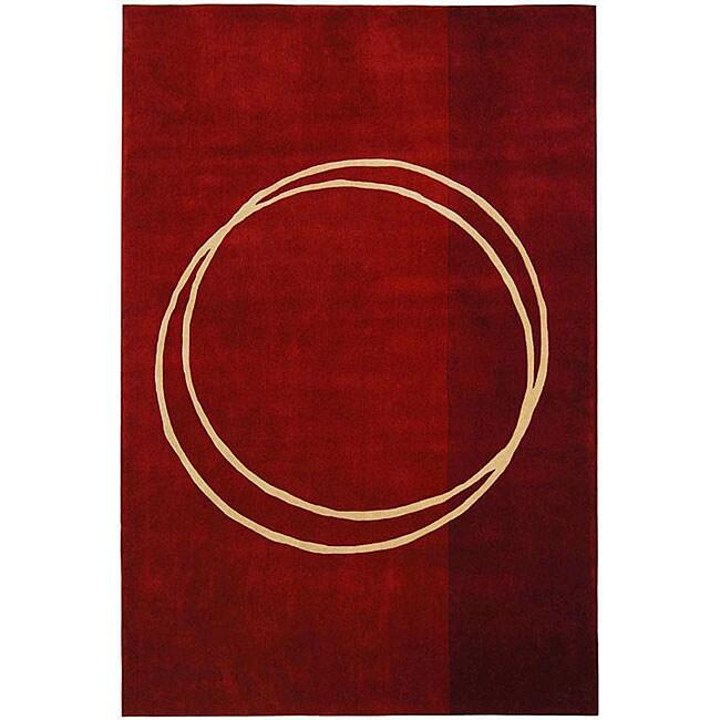 Safavieh Handmade Rodeo Drive Modern Abstract Red/ Ivory Wool Rug - 9'6 x 13'6