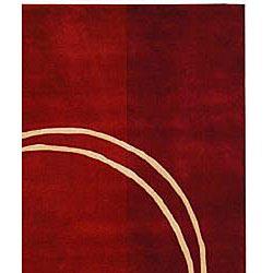 Safavieh Handmade Rodeo Drive Modern Abstract Red/ Ivory Wool Rug (9'6 x 13'6) - Thumbnail 1