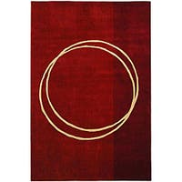Safavieh Handmade Rodeo Drive Modern Abstract Red/ Ivory Wool Rug - 9'6 x 13'6