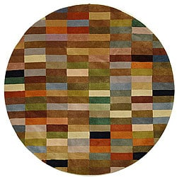 Safavieh Handmade Rodeo Drive Modern Abstract Multicolored Wool Rug (7' 9 x 7' 9 Round)