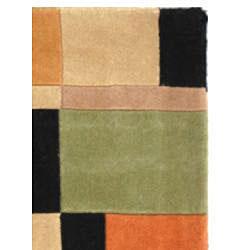 "Safavieh Handmade Rodeo Drive Modern Multi/ Black Wool Rug (7' 6"" x 9' 6"") - Thumbnail 1"