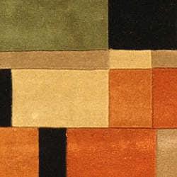 Safavieh Handmade Rodeo Drive Modern Abstract Rust/ Multi Wool Runner Rug (2'6 x 12') - Thumbnail 2