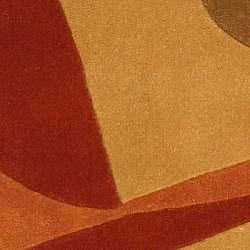 Safavieh Handmade Rodeo Drive Modern Abstract Rust/ Multi Wool Runner Rug (2'6 x 10')