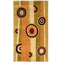 Safavieh Handmade Rodeo Drive Modern Abstract Sage/ Red Wool Rug - Assorted - 2'6 x 4'6