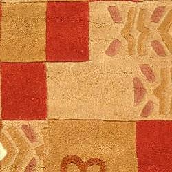 Safavieh Handmade Rodeo Drive Beige/ Red Wool Rug (2' x 3')