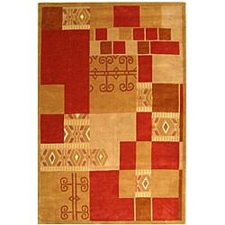 Safavieh Handmade Rodeo Drive Beige/ Red Wool Rug (3'6 x 5'6)