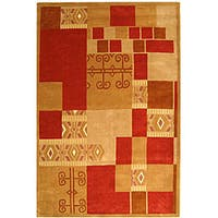 Safavieh Handmade Rodeo Drive Beige/ Red Wool Rug - multi - 8' X 11'