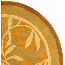 Safavieh Handmade Rodeo Drive Transitional Gold/ Ivory Wool Rug (5'9 Round) - Thumbnail 1