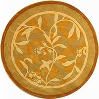 "Safavieh Handmade Rodeo Drive Transitional Gold/ Ivory Wool Rug - 5'9"" x 5'9"" round"