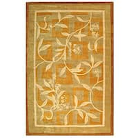 Safavieh Handmade Rodeo Drive Transitional Gold/ Ivory Wool Rug - 7'6' x 9'6'