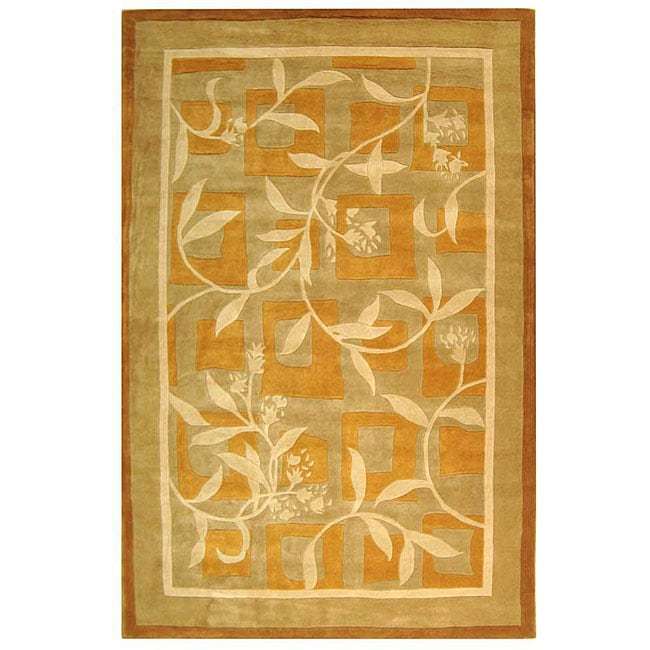 Safavieh Handmade Rodeo Drive Transitional Gold/ Ivory Wool Rug - 8' x 11'