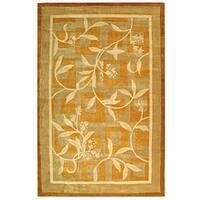 Safavieh Handmade Rodeo Drive Transitional Gold/ Ivory Wool Rug - 8' x 11'