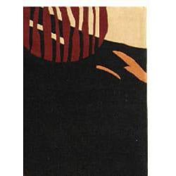 Safavieh Handmade Rodeo Drive Abstract Black/ Red Wool Rug (5' x 8') - Thumbnail 1