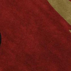 Safavieh Handmade Rodeo Drive Abstract Black/ Red Wool Rug (5'9 Round) - Thumbnail 2
