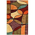 "Safavieh Handmade Rodeo Drive Modern Abstract Multicolored Wool Rug (7' 6"" x 9' 6"")"