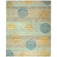 Safavieh Handmade Rodeo Drive Contemporary Blue/ Multi Wool Rug - 5' x 8'