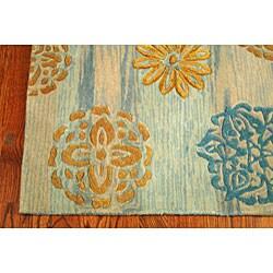 Safavieh Handmade Rodeo Drive Contemporary Blue/ Multi Wool Rug (8' x 11')