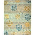 Safavieh Handmade Rodeo Drive Contemporary Blue/ Multi Wool Rug (8' x 11')