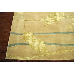 Safavieh Handmade Rodeo Drive Modern Abstract Ivory/ Gold Wool Rug (9'6 x 13'6) - Thumbnail 1