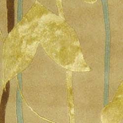 Safavieh Handmade Rodeo Drive Modern Abstract Ivory/ Gold Wool Runner (2'6 x 10')