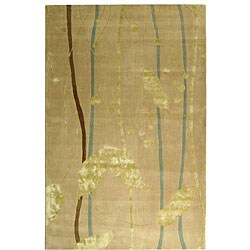 Safavieh Handmade Rodeo Drive Modern Abstract Ivory/ Gold Wool Rug (5' x 8')