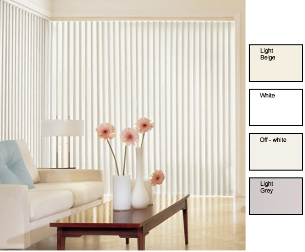 Solid Vinyl Vertical Blinds (74 Inches Wide x Custom Length)
