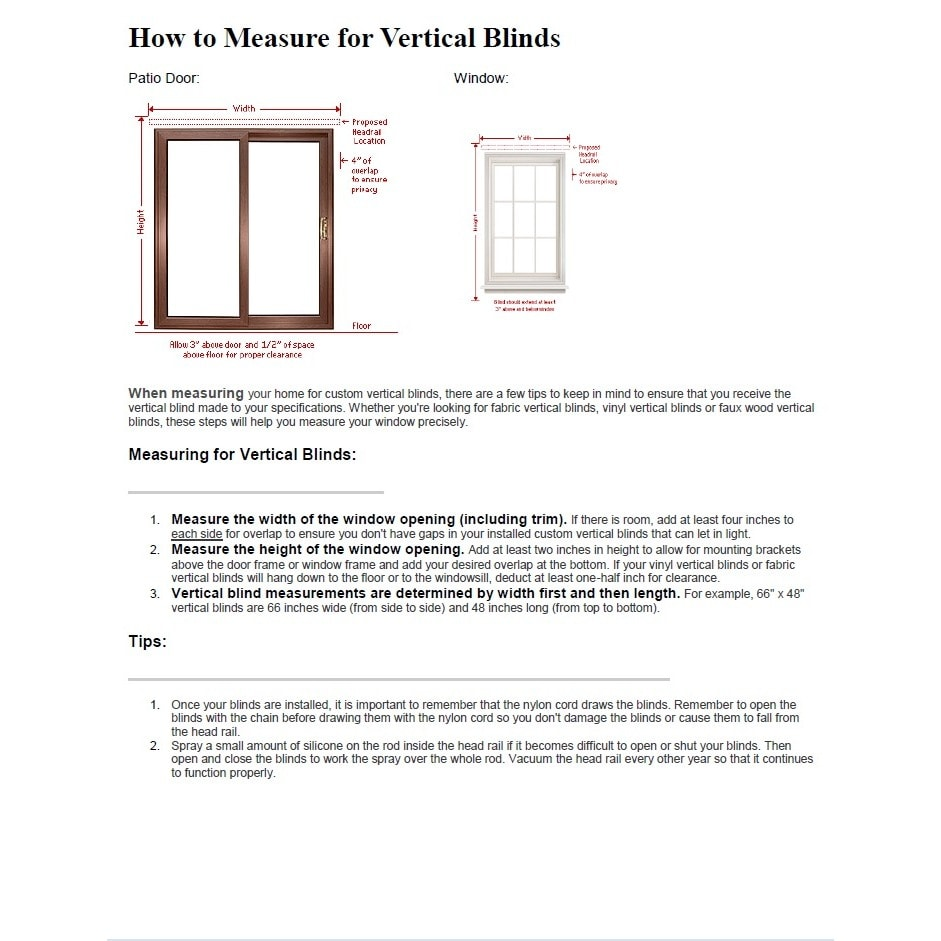 Solid Vinyl 82 Inch Vertical Blinds