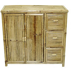 Handmade Bamboo 3-drawer Chest (Vietnam)
