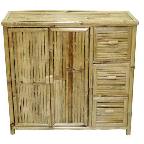 Handmade Bamboo 3-drawer Chest (Vietnam)