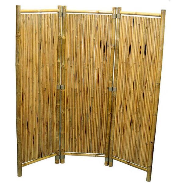Handmade Bamboo 3-panel Stick Screen (Vietnam) - 63 x 60