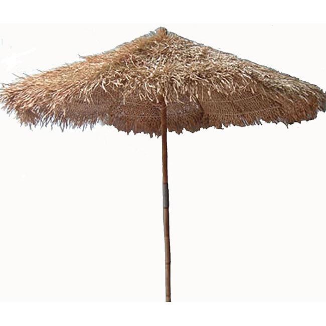Handcrafted Thatched 5-foot Umbrella (Vietnam) - Handcrafted Thatched 5-foot Umbrella (Vietnam) - Free Shipping