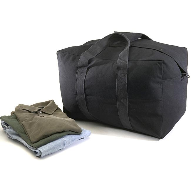 Texsport Black Canvas Parachute Bag