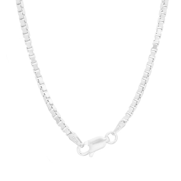Sterling Silver Venetian Box Chain (2mm, 16-30 inches)