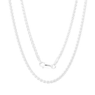 Sterling Essentials Italian Silver 2.25 mm Wheat Chain (18-30 Inch)