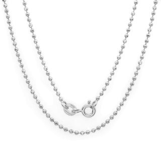Sterling Essentials Silver 1.5 mm Diamond-Cut Bead Chain (16-30 Inch)