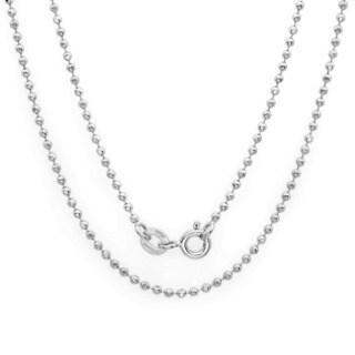 Sterling Essentials Silver 1.5 mm Diamond-Cut Bead Chain (16-30 Inch)