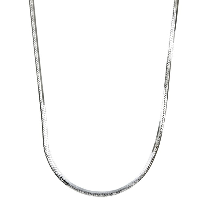 Sterling Essentials Sterling Silver 16-inch 8-sided Diamond-Cut Snake Chain (1.5mm)