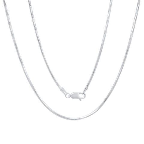 Roberto Martinez Italian Silver 1.5 mm Diamond-Cut Snake Chain (16-30 Inch)