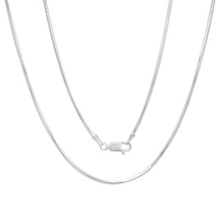 Italian Sterling Silver 1.5 mm Diamond-Cut Snake Chain (16-30 Inch)