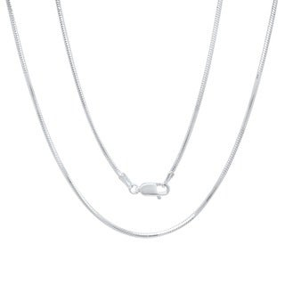 Sterling Essentials Italian Silver 1.5 mm Diamond-Cut Snake Chain (16-30 Inch) (Option: Plus Size)