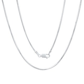 Roberto Martinez Italian Silver 1.5 mm Diamond-Cut Snake Chain (16-30 Inch)