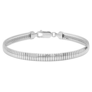 Sterling Essentials Sterling Silver 6mm Omega Bracelet (7 or 8 in.)