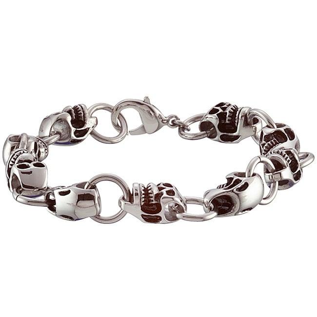 Stainless Steel Skull Bracelet
