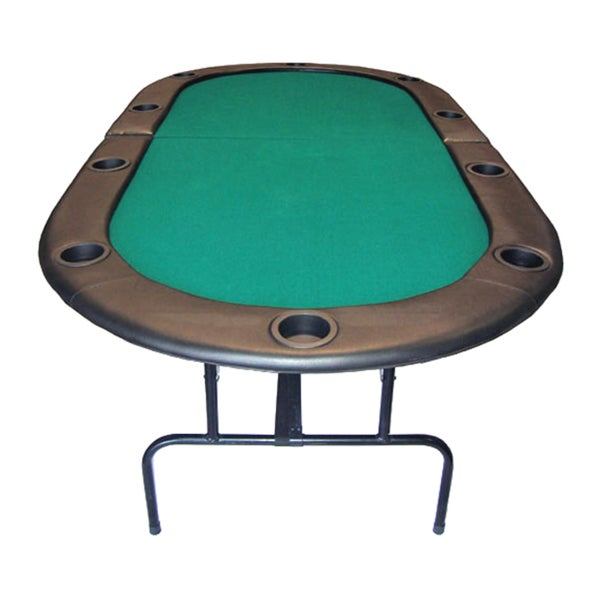 Texas Holdu0027em 84 Inch 10 Player Poker Table With Folding Legs   Free  Shipping Today   Overstock.com   12025464