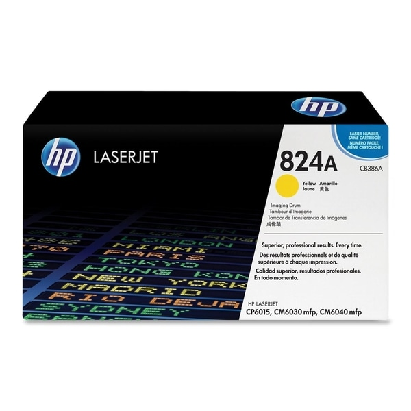 HP 824A (CB386A) Yellow Original LaserJet Image Drum - Single Pack