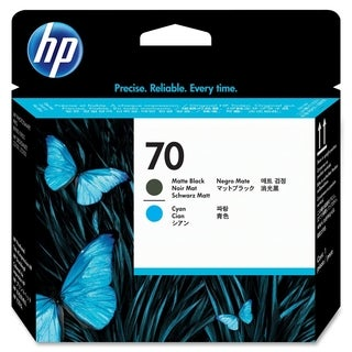 HP 70 Matte Black and Cyan Printhead