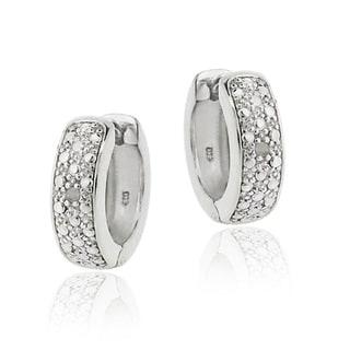 DB Designs Diamond Accent Mini-hoop Earrings