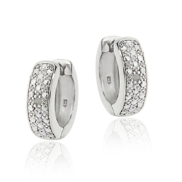 DB Designs Diamond Accent Mini-hoop Earrings